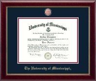 The University of Mississippi Diploma Frame - Masterpiece Medallion Diploma Frame in Gallery