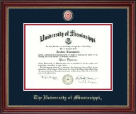 The University of Mississippi Diploma Frame - Masterpiece Medallion Diploma Frame in Kensington Gold