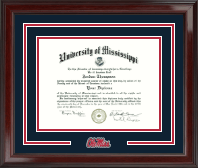 The University of Mississippi Diploma Frame - Spirit Medallion Diploma Frame in Encore