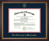 The University of Mississippi Diploma Frame - Gold Embossed Diploma Frame in Regency Gold