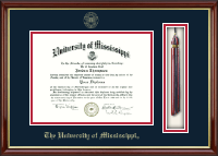 The University of Mississippi Diploma Frame - Tassel Edition Diploma Frame in Southport Gold