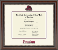 State University of New York at Potsdam Diploma Frame - Dimensions Diploma Frame in Chateau