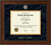 Kenyon College Diploma Frame - Presidential Masterpiece Diploma Frame in Madison