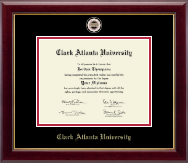 Clark Atlanta University Diploma Frame - Masterpiece Medallion Diploma Frame in Gallery