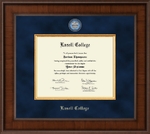Lasell College Diploma Frame - Presidential Masterpiece Diploma Frame in Madison