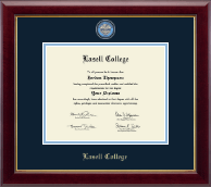 Lasell College Diploma Frame - Masterpiece Medallion Diploma Frame in Gallery