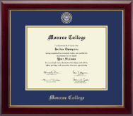 Monroe College Diploma Frame - Masterpiece Medallion Diploma Frame in Gallery