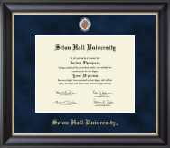 Seton Hall University Diploma Frame - Regal Edition Diploma Frame in Noir