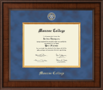 Monroe College Diploma Frame - Presidential Masterpiece Diploma Frame in Madison
