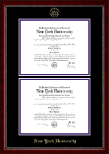 New York University Diploma Frame - Double Diploma Frame in Sutton