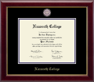Nazareth College Diploma Frame - Masterpiece Medallion Diploma Frame in Gallery