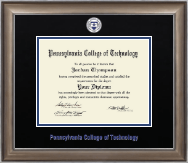 Pennsylvania College of Technology Diploma Frame - Dimensions Diploma Frame in Easton