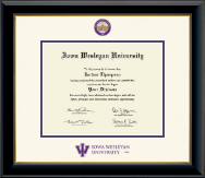 Iowa Wesleyan University Diploma Frame - Dimensions Diploma Frame in Onyx Gold