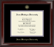 Iowa Wesleyan University Diploma Frame - Gold Embossed Diploma Frame in Encore