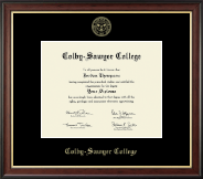 Colby-Sawyer College Diploma Frame - Gold Embossed Diploma Frame in Studio Gold