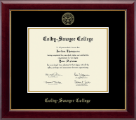 Colby-Sawyer College Diploma Frame - Gold Embossed Diploma Frame in Gallery