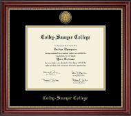 Colby-Sawyer College Diploma Frame - Gold Engraved Medallion Diploma Frame in Kensington Gold