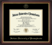 Indiana University of Pennsylvania Diploma Frame - Gold Embossed Diploma Frame in Regency Gold