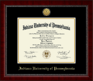 Indiana University of Pennsylvania Diploma Frame - Gold Engraved Medallion Diploma Frame in Sutton
