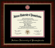 Indiana University of Pennsylvania Diploma Frame - Masterpiece Medallion Diploma Frame in Murano