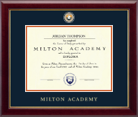 Milton Academy Diploma Frame - Masterpiece Medallion Diploma Frame in Gallery