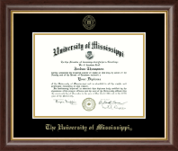 The University of Mississippi Diploma Frame - Gold Embossed Diploma Frame in Hampshire
