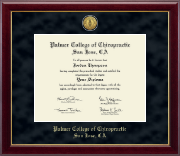 Palmer College of Chiropractic San Jose Diploma Frame - Gold Engraved Medallion Diploma Frame in Gallery