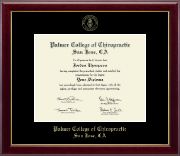 Palmer College of Chiropractic San Jose Diploma Frame - Gold Embossed Diploma Frame in Gallery