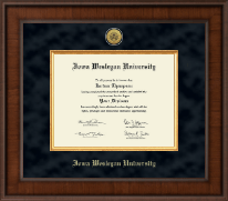 Iowa Wesleyan University Diploma Frame - Presidential Gold Engraved Diploma Frame in Madison