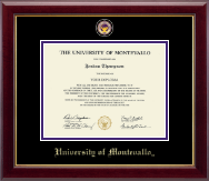 University of Montevallo Diploma Frame - Masterpiece Medallion Diploma Frame in Gallery