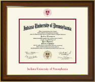 Indiana University of Pennsylvania Diploma Frame - Dimensions Diploma Frame in Westwood
