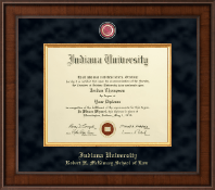 Indiana University - Purdue University Diploma Frame - Presidential Masterpiece Diploma Frame in Madison