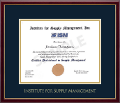 Institute for Supply Management Certificate Frame - Gold Embossed Certificate Frame in Galleria