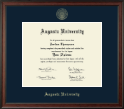 Augusta University Diploma Frame - Gold Embossed Diploma Frame in Studio