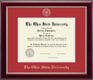 The Ohio State University Diploma Frame - Silver Embossed Diploma Frame in Gallery Silver
