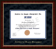 Institute for Supply Management Certificate Frame - Gold Embossed Certificate Frame in Murano
