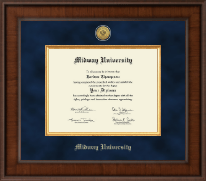 Midway University Diploma Frame - Presidential Gold Engraved Diploma Frame in Madison