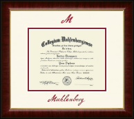 Muhlenberg College Diploma Frame - Dimensions Diploma Frame in Murano
