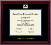 Long Island University - Brooklyn Diploma Frame - Masterpiece Medallion Diploma Frame in Gallery Silver