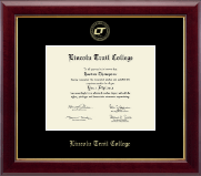 Lincoln Trail College Diploma Frame - Gold Embossed Diploma Frame in Gallery