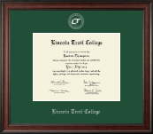 Lincoln Trail College Diploma Frame - Silver Embossed Diploma Frame in Studio