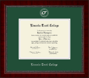 Lincoln Trail College Diploma Frame - Silver Embossed Diploma Frame in Sutton