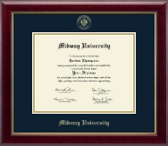Midway University Diploma Frame - Gold Embossed Diploma Frame in Gallery