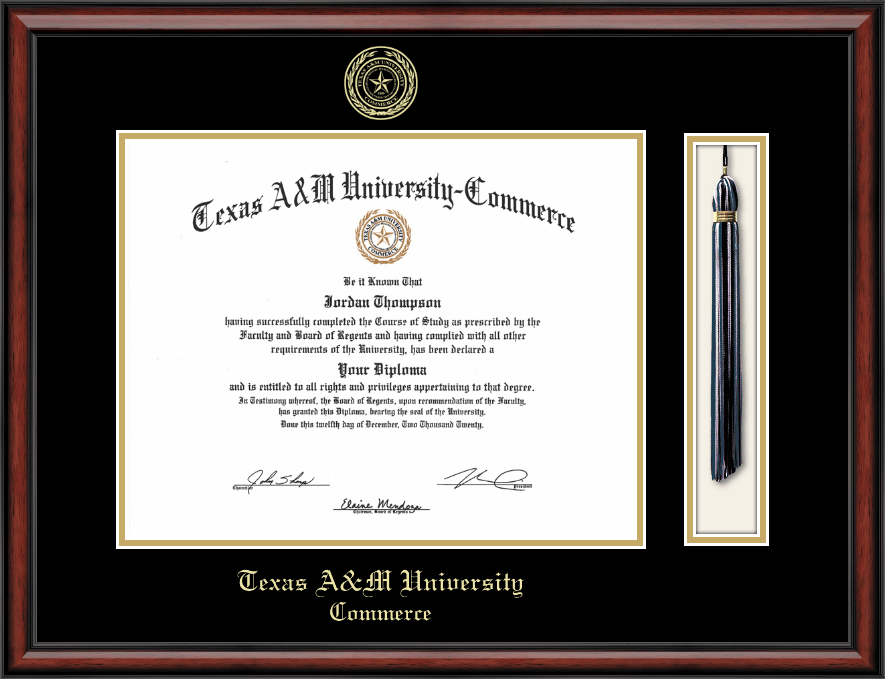 Texas A Amp M University Commerce Tassel Edition Diploma