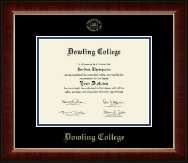 Dowling College Diploma Frame - Gold Embossed Diploma Frame in Murano