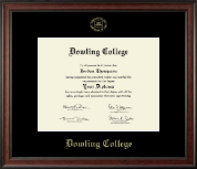 Dowling College Diploma Frame - Gold Embossed Diploma Frame in Studio