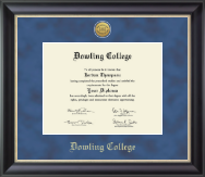 Dowling College Diploma Frame - Gold Engraved Medallion Diploma Frame in Midnight