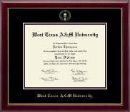 West Texas A&M University Diploma Frame - Gold Embossed Diploma Frame in Gallery