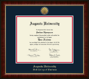 Augusta University Diploma Frame - Gold Engraved Medallion Diploma Frame in Murano