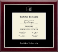 Castleton University Diploma Frame - Silver Embossed Diploma Frame in Gallery Silver